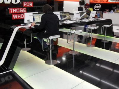 Internet Cafe in der Hamburger Innenstadt